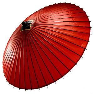 番傘 赤 はんなり蛇の目傘 和傘 番傘 防水 和装 雨具 かさ 羽二重 正絹 着物 無地 えんじ レディース セール対象外 送料無料対象外 プレゼント包装不可