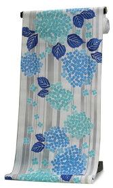 浴衣 反物 仕立て付き 白 縞 紫陽花 山本彩 女性 レディース フルオーダー 綿 和装 和服 日本製 送料無料 tkフラ