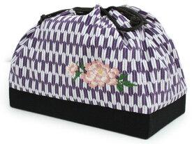 【オプション専用】巾着 紫 矢羽根 牡丹 刺繍 柄 二尺袖・袴セットご購入者様専用 adわと KZ セール対象外