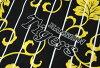 阪神老虎商品幫助浴衣女士黑條紋爬山虎M L品牌標記虎布料印刷浴衣女人性物品條紋黄色赤木棉棉布職業棒球促銷單對象外