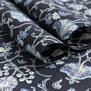 生紬着物正絹反物仕立て付きしょうざん謹製未仕立て未使用新品紺ネイビー花更紗しゃれ着洒落なまつむぎ和服和装女性レディース着尺東京urクト送料無料日本製