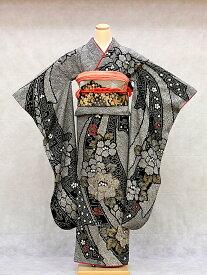 【レンタル】振袖 レンタル 成人式 着物 セット 総絞り黒のしめ05