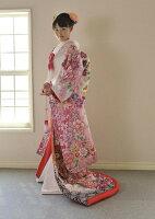雅重ねピンク紫ぼかし鶴に四季の花【色打掛】【結婚式】【披露宴】【前撮り写真】