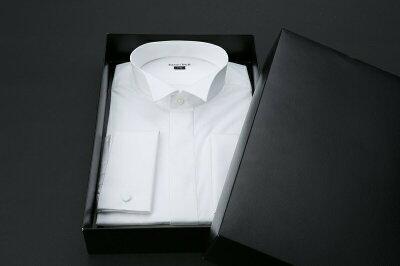 結婚式・ブライダル・販売用Yシャツ【ダブルカフス】(小物まで付きます)【ワイシャツ】【ウィングシャツ】【モーニング】【タキシード】【シャツ】【フォーマル】