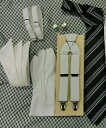 【レンタル】ワイシャツ 小物【サスペンダー】【カフス】【アームバンド】【手袋】【チーフ】【ネクタイ】新郎 小物 セット