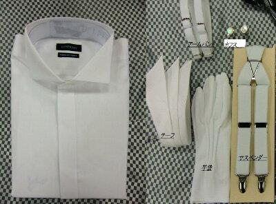 【結婚式】【スタイリッシュモーニングコート】【ワイシャツ】【グレーのベスト】【細身】【カフス】【サスペンダー】【チーフ】【手袋】【アームバンド】【ネクタイ】【送料往復無料】お父様衣裳(モーニング)