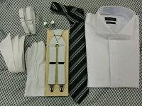 10P11Jan14・結婚式・ブライダル・ワイシャツレンタル【ネクタイ・小物がすべて付きます】
