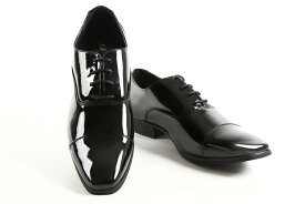 【レンタル】【エナメル】【黒】【ストレートチップ】【靴】【タキシード】【ブライダルシューズ】【結婚式】【シークレットシューズ】【往復送料無料】(メンズシューズ)【フォーマルシューズ】