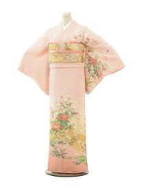 【レンタル】訪問着 結婚式 ブライダル およばれ レンタル 送料無料 着物(美しい着物うすピンクすわとう四季の花)さくらピンク