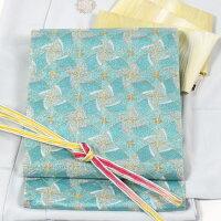 【桝屋高尾】特選ねん金綴錦袋帯針ねん金七宝風車文特選正絹手織り価格お問い合わせ下さい