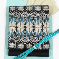 蘇州刺繍袋帯特選刺繍創作袋帯ループ華文/焦げ茶色地手刺繍お洒落帯超軽量帯