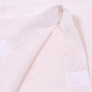 【夏用】【1尺4寸】替え袖東レシルック・楊柳(ようりゅう)地ハイビスカス/淡いグレー×白うそつき長襦袢用うそつき袖単衣仕立「衿秀」き楽っく袖マジック付日本製