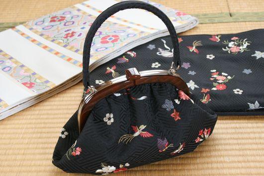 【セミオーダーメイド承ります】オリジナルがま口バッグ〜世界に一つだけのオリジナルバッグ
