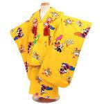 【レンタル】【七五三・3才女児】【ディズニー】黄/赤地|七五三|被布着物|3歳|被布セット|753|貸衣装|子供|レンタル|女の子|3歳被布セット|安い|往復送料無料