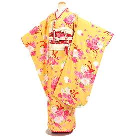 【レンタル】七五三・7才女児『Seiko Matsuda』黄地|四つ身|7歳着物|753|七五三|7歳|女の子|子供|安い|往復送料無料