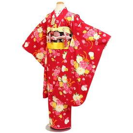 【レンタル】七五三・7才女児『Seiko Matsuda』赤地|四つ身|7歳着物|753|七五三|7歳|女の子|子供|安い|往復送料無料