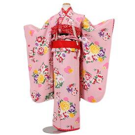 【レンタル】七五三・7才女児『Seiko Matsuda』ピンク地|四つ身|7歳着物|753|七五三|7歳|女の子|子供|安い|往復送料無料