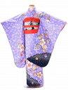 【レンタル】七五三 着物 レンタル(対応身長110cm〜120cm) 紫系5歳女児 女の子化繊結び帯 結婚式 レンタル衣…