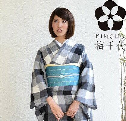 リネン 綿麻 着物 KIMONO オリジナル 商品 【sweet】u0003-kim【梅得】【S】
