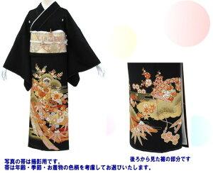 黒留袖レンタル・368・フリーサイズ〔レンタル留袖〕〔貸衣装〕〔結婚式〕【】