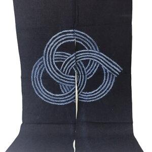 藍染め のれん おしゃれ 藍染めのれん 藍染のれん 藍染め絞り 暖簾 ロング丈 綿100% 和風インテリア 日よけ 間仕切り 目隠し タペストリー 和空間 和雑貨 送料無料