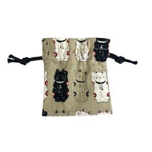巾着 かわいい 日本製 ミニ巾着 ウデワ入れ 京都製 京の手作り雑貨 和柄 招き猫 雑貨 おしゃれ アクセサリーポーチ ブレス パワーストーン入れ 指輪入れ アクセサリーケース 巾着袋 きんち