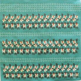 【送料無料】チーフ 竹久夢二 風呂敷 中巾 48cm×48cm おしゃれ ふろしき 日本製 お弁当包み ティッシュカバー 大正ロマン 雑貨 和雑貨 プレゼント ギフト むす美 和装 着物 レトロ モダン furoshiki ふろしきの包み方リーフレット付 四葉とどくだみ グリーン 39ショップ