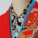 【楽天スーパーセール】送料無料 刺繍半衿 化繊 ししゅう半衿 黒地 ワンランクアップ商品 振袖用 訪問着用 付下げ用 …