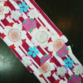 送料無料 新作浴衣 すぐ着れる浴衣 仕立て上がりゆかた 赤 白 紫 ピンク 桜 縞 浴衣 ゆかた yukata ユカタ レディース