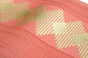 【夏用博多帯】博多にしむら粗紗帯ダイヤモンドストライプ