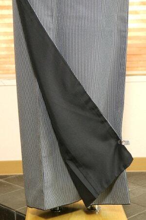 【女性洗える着物NK-14】江戸小紋袷子持ち縞黒Mサイズ