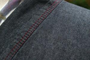 【メンズブラックデニム着物】オールブラックタイプデニム着物<MLLLサイズ>カジュアル着物洗える着物