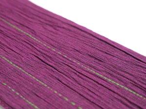 【男の帯MO-62a】ひでや工房角帯赤紫ステッチ綿角帯浴衣帯着物帯長めシンプルデザイン