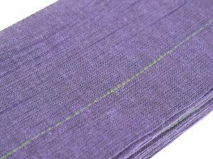 【男の帯MO-62b】ひでや工房角帯藤色ステッチ綿角帯浴衣帯着物帯長めシンプルデザイン