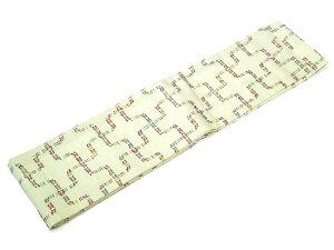 【ひでや工房半幅帯LO-53】きみどり多色使い木綿帯浴衣帯着物帯カジュアルベルト長尺