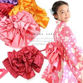 女の子 プリーツ兵児帯(作り帯) 簡単に結べる 帯結び 付け帯 浴衣帯 ふわふわ帯 リボン