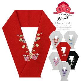 【ブラックフライデー】 レンタル Aランク 振袖用 刺繍半襟 刺しゅう半衿 桜 成人式