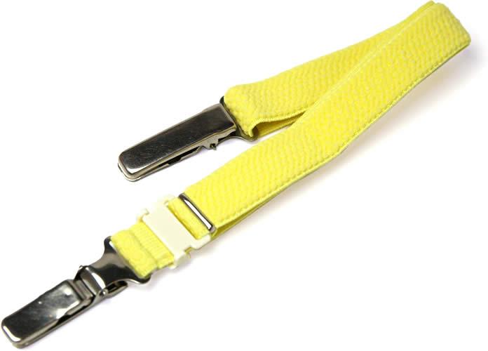 着物の衿元の開きを防ぐ着物ベルト 黄 メール便不可 あす楽