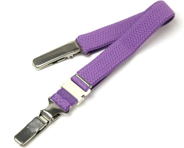 着物の衿元の開きを防ぐ着物ベルト 紫 メール便不可 あす楽