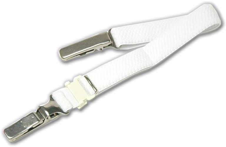 着物の衿元の開きを防ぐ着物ベルト 白 メール便不可 あす楽