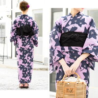 moikaレディース浴衣パープル桔梗3