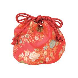 七五三 7歳 5歳 3歳 女の子 巾着 単品 バッグ 日本製 お祝い着 着物 赤色 花柄 7才用 6才 5才 4才 3才 女児 小物 和装 お正月 ひな祭り 雛祭り ひなまつり 美やび 81772 メール2 7b-03