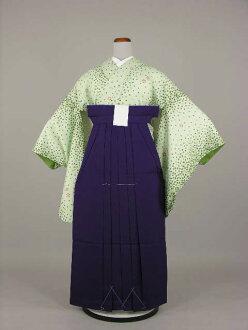 Period limited teacher graduation ceremony kimono kimono hakama round-trip graduation hakama rental 2 isometric sleeve plain hakama set College, Junior College, College elementary school, junior high and high school No, 2L73-2, 16-piece set