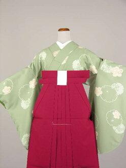 Time limited edition party teacher graduation ceremony kimono kimono set sleeve plain hakama set College, Junior College, College elementary school and junior high and high school No, 5215 B and 16 points still reciprocating graduation hakama rental 2 Sh