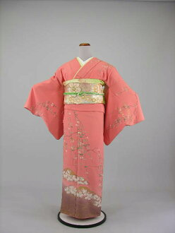 Formal pink skin cream color wedding wedding kimono wedding feast shrine kabukichō graduation ceremony entrance ceremony graduation wedding party silk kimono kimono trip visiting with lower rental KF105 6 point set-2