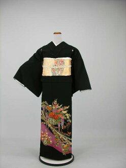 Crest formal wedding ceremony women kimono dress Edo wife several years ago tomesode tomesode re low cheap kimono wedding wedding kimono kimono round black tomesode rental 119.20 points set