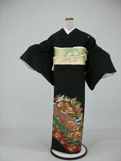 Wedding bridal kimono kimono round black tomesode rental No.116