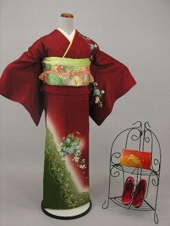 Uchikake kimono kimono trip visiting with lower rent Tall sizes KF108