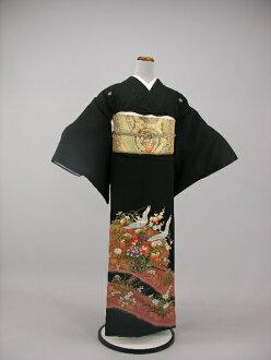 Wedding bridal kimono kimono round black tomesode rental No.101