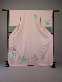 Uchikake kimono kimono trip visiting with lower rent tall size No.107
